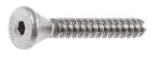 Винт нержавеющий с потайной головкой и внутренним шестигранником А2 DIN7991